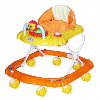BAMBOLA Ходунки МИШКА (8 колес,игрушки,муз) 6 шт в кор.(67*63*52) ORANGE+YELLOW оранжевый SR101-Oran