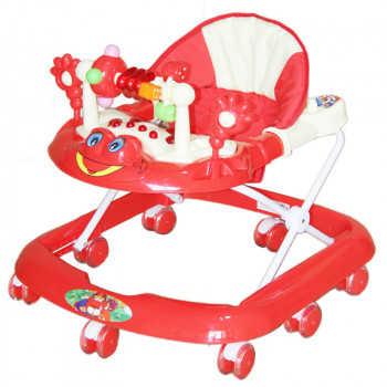 BAMBOLA Ходунки ЛЯГУШОНОК (8 колес СИЛИКОН, игрушки,муз) 5 шт в кор.(63*59*56) RED красный SR528-Red