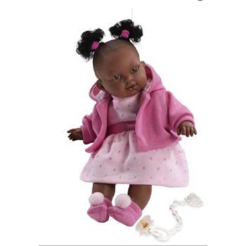 LLORENS: Кукла Адис 38см, Афро платье в горошек