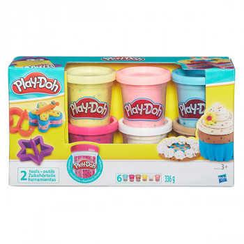H B3423 PD Play-Doh Набор из 6 баночек с конфетти