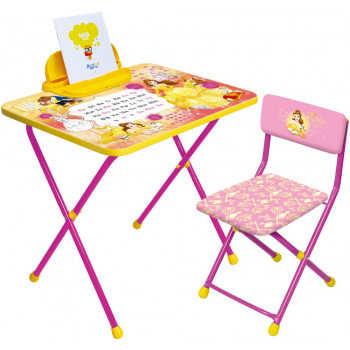 **НИКА Набор мебели БЕЛЛЬ (стол складн+пенал+стул мягк ) Д4Б