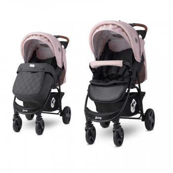 Прогулочная коляска Lorelli Daisy с накидкой на ножки Черный-розовый/ Black & Cameo Rose 2180