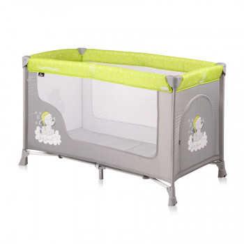 Кровать-манеж Lorelli  SAN REMO 1 Зелено-серый / GREEN&GREY ELEPHANT1937 Зелено-серый / GREEN&GREY E