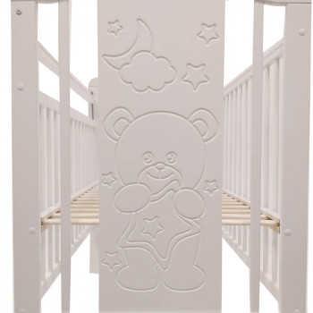 PITUSO Кровать детская NOLI МИШУТКА  маятник универсальный с накладкой Белый J-503/Белый/Мишутка