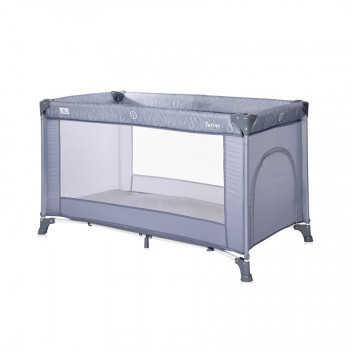 Кровать - манеж Lorelli TORINO 1 Серый-синий / Silver Blue 2124