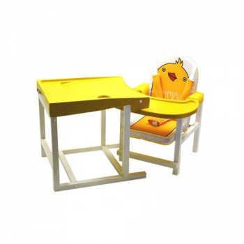 BABYS Стул-стол для кормления DUCKY Желтый DUCKY