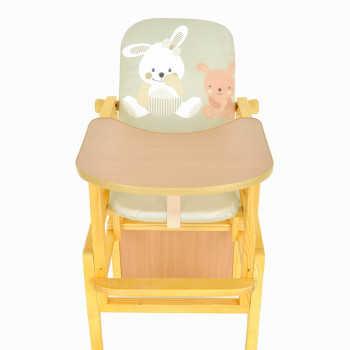 BAMBOLA Стул-стол для кормления Слоник регулируемая спинка Зайка/Щенок Салатовый Сл-сал/З/Щ