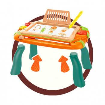 PITUSO  Стол для игры с конструктором (150 эл-в) и магнитной доской для рисования (37.5*25*17.5) 674