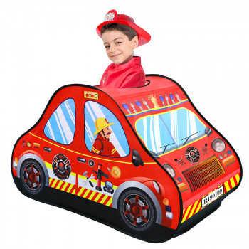 PITUSO Дом + 50 шаров Пожарная машина,118*72*68см,18 шт.в кор. J1114