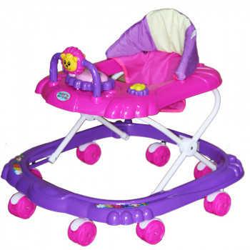 BAMBOLA Ходунки МИШКА (8 колес,игрушки,муз) 6 шт в кор.(67*63*52) PURPLE+PINK фиолетовый SR101-Purpl