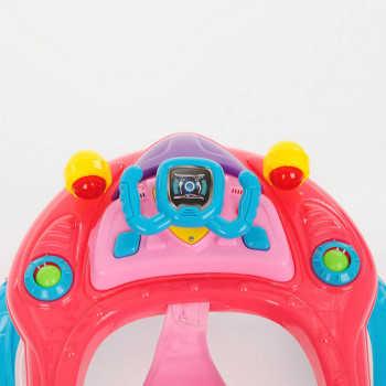 BAMBOLA Ходунки САМОЛЁТ (8 колес,игрушки,муз) 6 шт в кор (62*53*57)  BLUE Голубой/розовый SR105-Blue
