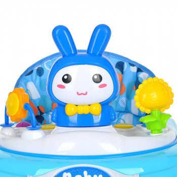 BAMBOLA Ходунки ЗАЙКА (8 силик.колес,игрушки,муз) 5 шт в кор.(70*60*54) BLUE Голубой 616