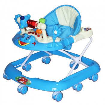 BAMBOLA Ходунки ЛЯГУШОНОК (8 колес СИЛИКОН, игрушки,муз) 5 шт в кор.(63*59*56) BLUE голубой SR528-Bl