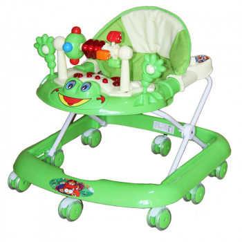 BAMBOLA Ходунки ЛЯГУШОНОК (8 колес СИЛИКОН, игрушки,муз) 5 шт в кор.(63*59*56) GREEN зеленый SR528-G