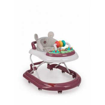 """Ходунки Happy baby  """"Smiley V2"""" bordo, от 7 месяцев, Силиконовые колеса, 8 шт, Съемная игровая панел"""
