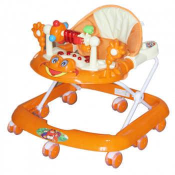BAMBOLA Ходунки ЛЯГУШОНОК (8 колес СИЛИКОН, игрушки,муз) 5 шт в кор.(63*59*56) ORANGE оранжевый SR52