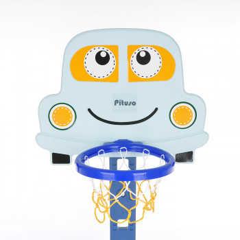 PITUSO Стойка баскетбольная Машинка (с кольцебросом,футб.воротами) Blue/Голубой (71*178h) L-KC01-blu
