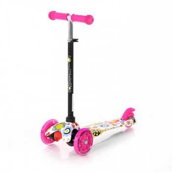 Самокат 3-х колёсный Lorelli MINI Розовый / Pink FLOWERS 0001