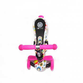 Самокат 3-х колёсный Lorelli SMART Розовый / Pink FLOWERS 0001