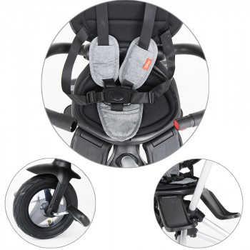 QPlay Велосипед трехколесный NOVA +, Black черный S700 PLUS-Black
