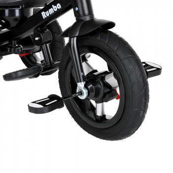 """PITUSO Велосипед трехколесный Rumba Black/Черный, AIR, 12""""/10"""" SG6016-Black"""