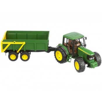 Трактор John Deere 6920 с прицепом