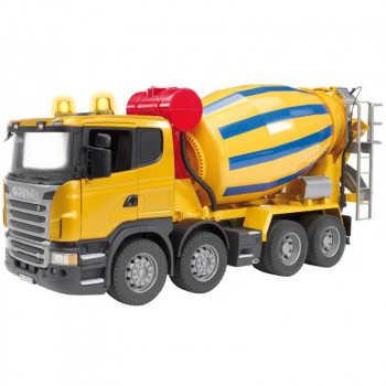Бетономешалка Scania (цвет жёлто синий)