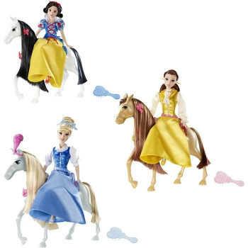 Disney Princess. Фигурки Принцессы в наборе с конем и акс. для прогулок(наряд,расч.для коня и др.)