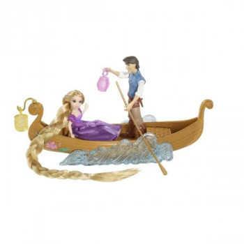 """Disney Princess. Фигурки Рапунцель и Флинна в наборе """"Прогулка на лодке"""" с акес."""