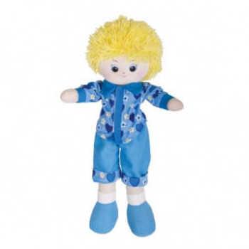 Кукла-мальчик в голубой рубашке, блондин, 40см