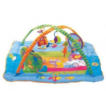 Музыкальный коврик с игровой подушечкой  Зоосад
