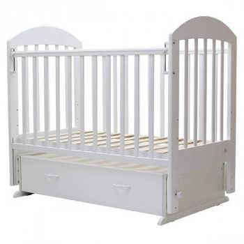 Кровать детская Топотушки Дарина-6 маятник поперечный белый