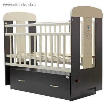 Кровать детская Верона маятник, венге - слоновая кость