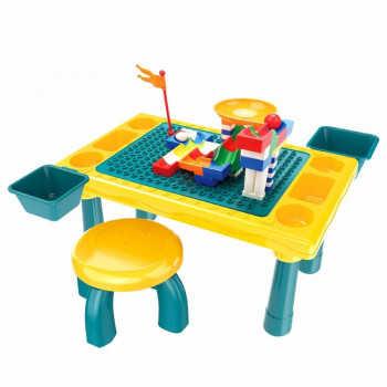 PITUSO  Стол для игры с конструктором, в компл. с конструктором (58 эл.) (48,4*30,2*27,2)+1табурет 6