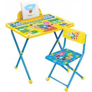 НИКА Набор мебели ФИКСИКИ АЗБУКА Ф1А  (стол складн.+пенал,стул ) Ф1А