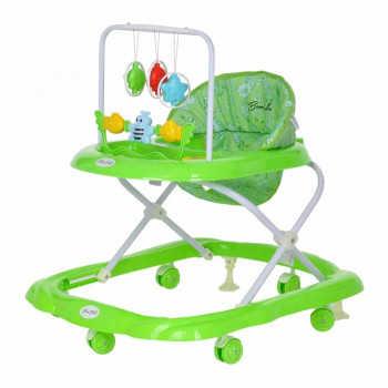 BAMBOLA Ходунки ЗВЕРУШКИ (6 пласт.колес,игрушки,муз) 7 шт в кор.(66*53*55) Зеленый 605